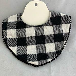 🔥NEW UNISEX black and white checkered fabric bib